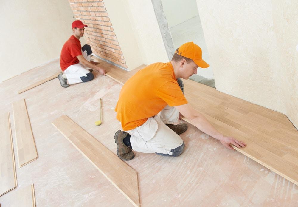 houten vloer installatie