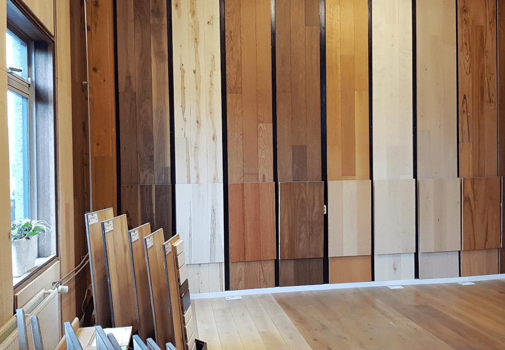 houten vloer showroom